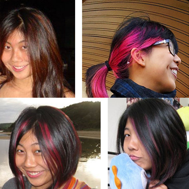 colour asian hair tips