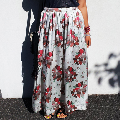 Silk Maxi Skirt Feature