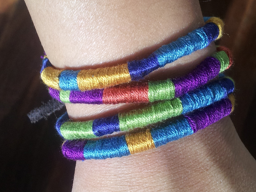 Pretty Quirky Pants Diy Wrap Tribal Bracelets