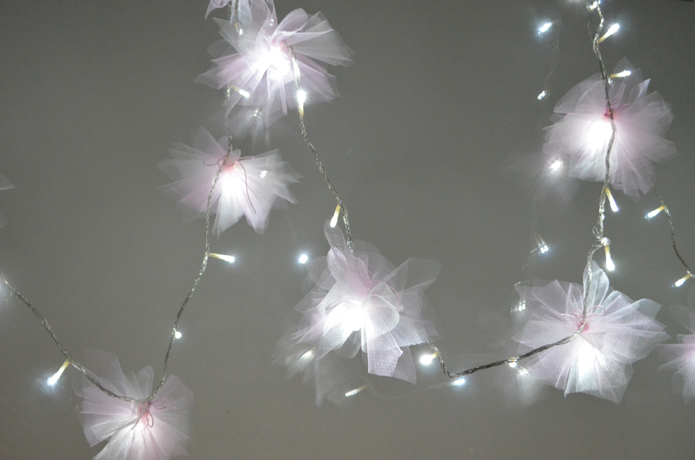 Flower Lights Diy Diy Tulle Flower Fairy Lights
