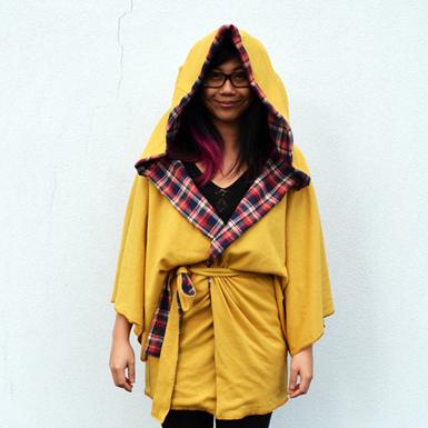 DIY Kimono Jacket with hood