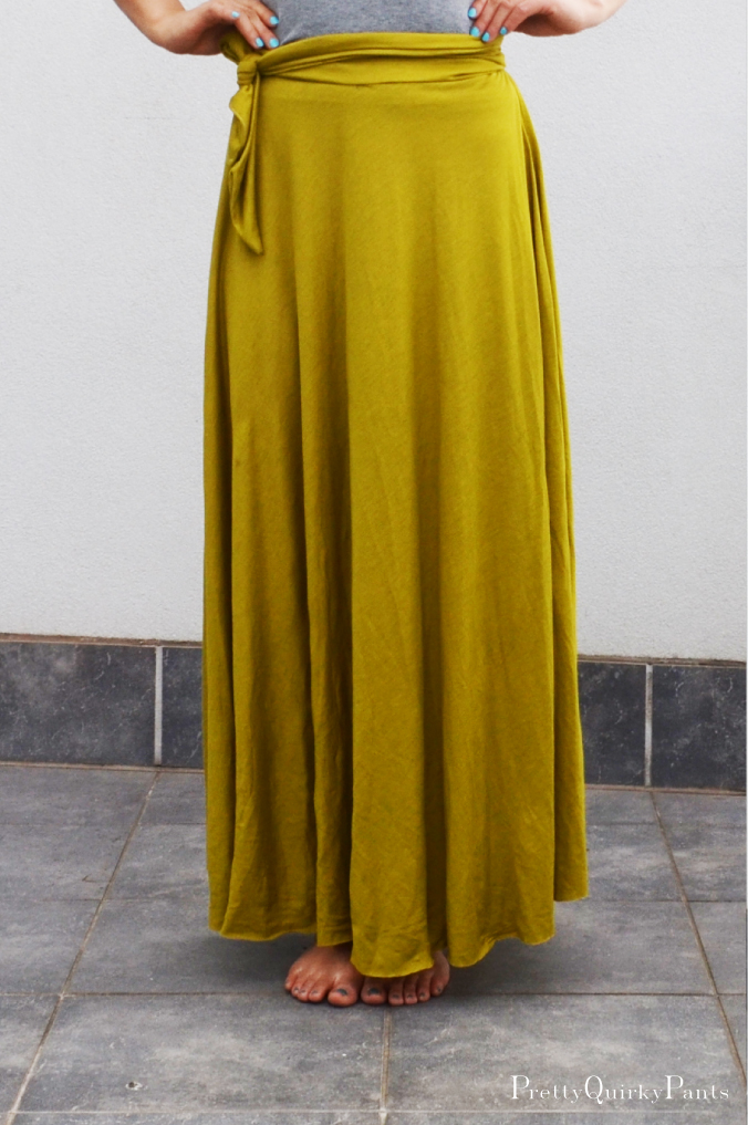 Pretty Quirky Pants Diy Half Circle Maxi Skirt Tie Waist