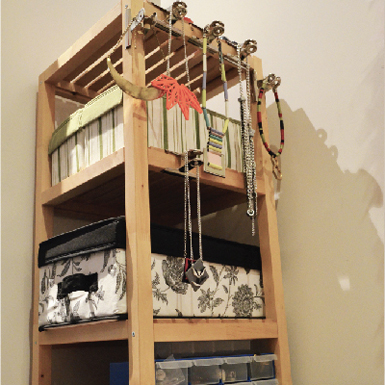 diy home storage jewellery