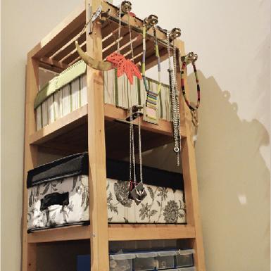 diy home storage jewellery