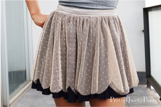 e0ca43cd Pretty Quirky Pants | DIY Circle Lace Scallop Layer Skirt