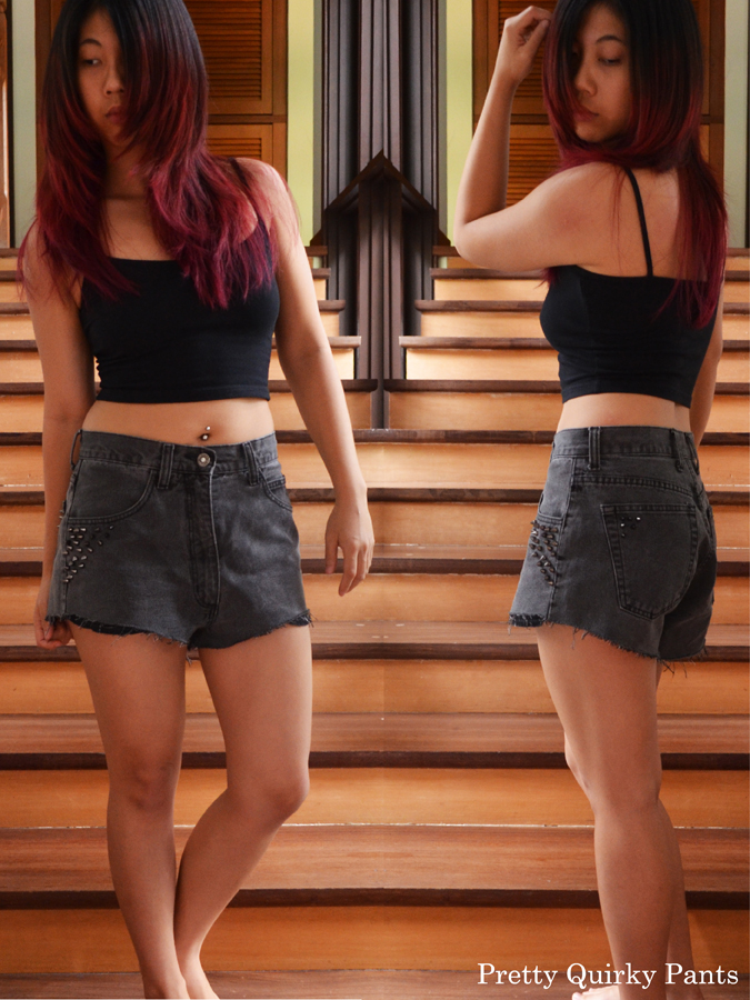 Pretty Quirky Pants Diy Studded Shorts