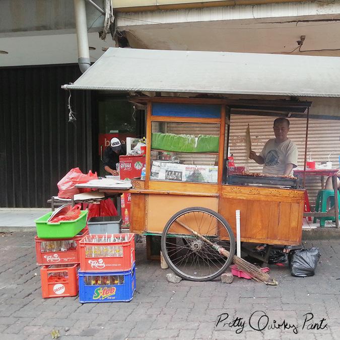 jakarta satay cart