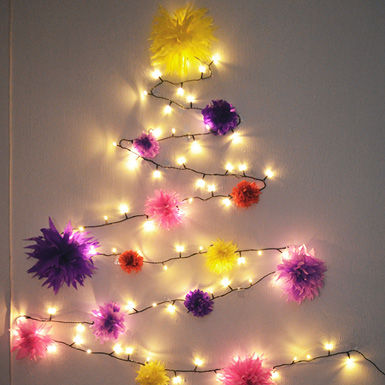 Pretty quirky pants diy fairy lights christmas tree aloadofball