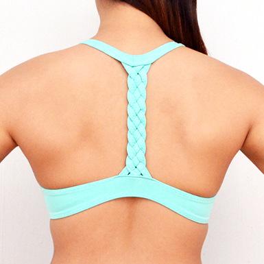 diy neoprene bralet braided back feature