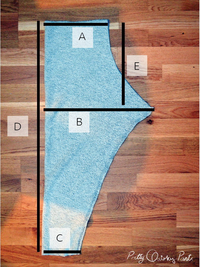 diy harem sweat pants diagram2