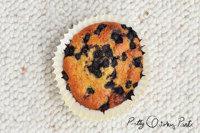 blueberry banana muffins 3
