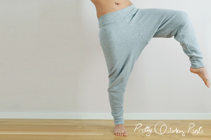 Pretty Quirky Pants | DIY Harem Sweat Pants