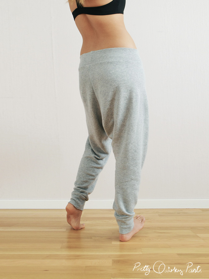 c86ff4fe Pretty Quirky Pants | DIY Harem Sweat Pants