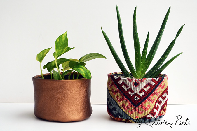diy fabric plant pots