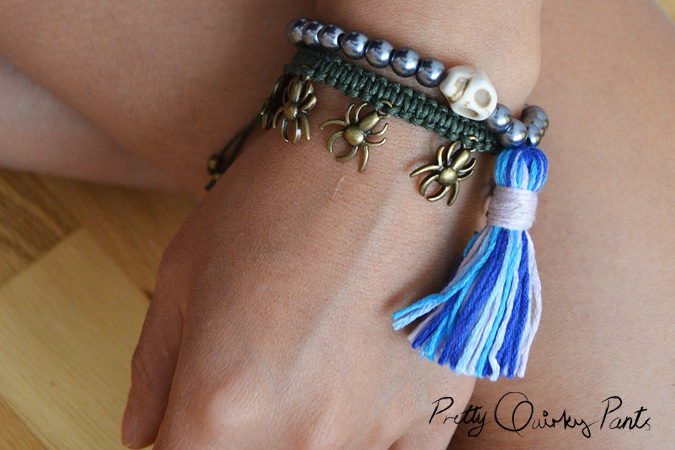 diy stretch bead tassle bracelet feature3