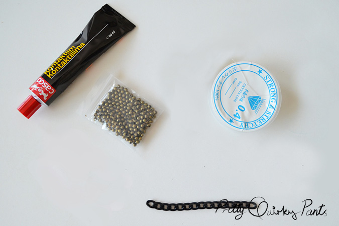chain bead stretch bracelet materials