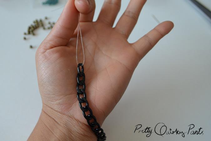 chain bead stretch bracelet