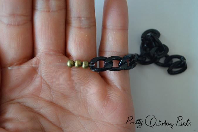 chain bead stretch bracelet2