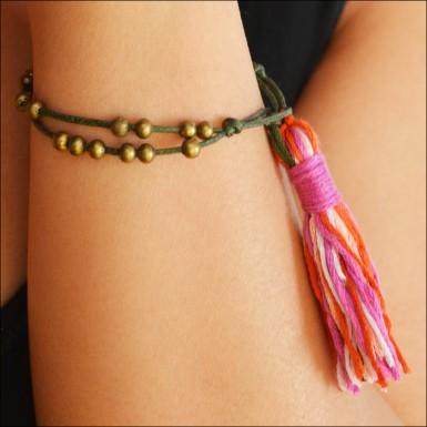 bead tassle bracelet