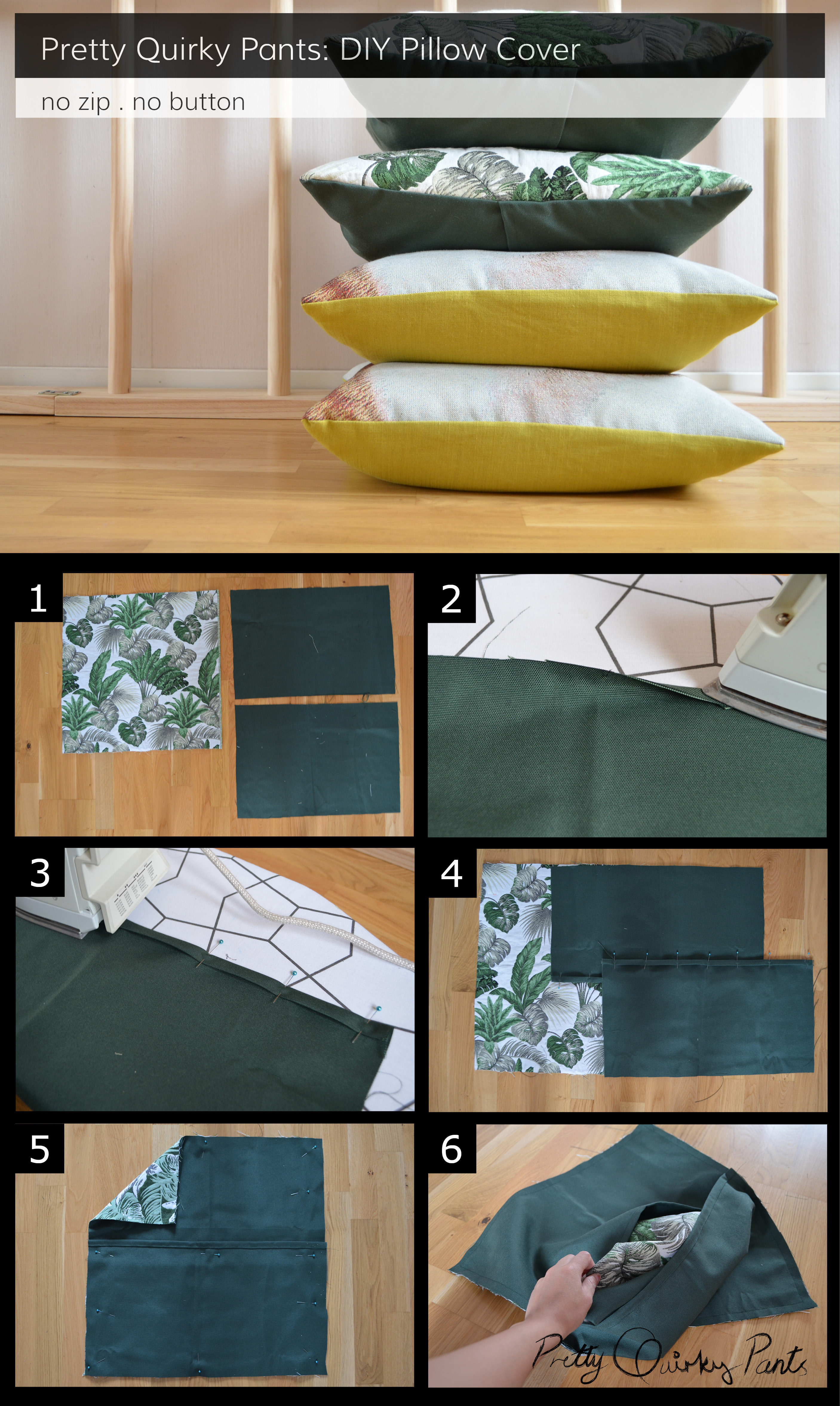 Instruction Layout - pillow cases