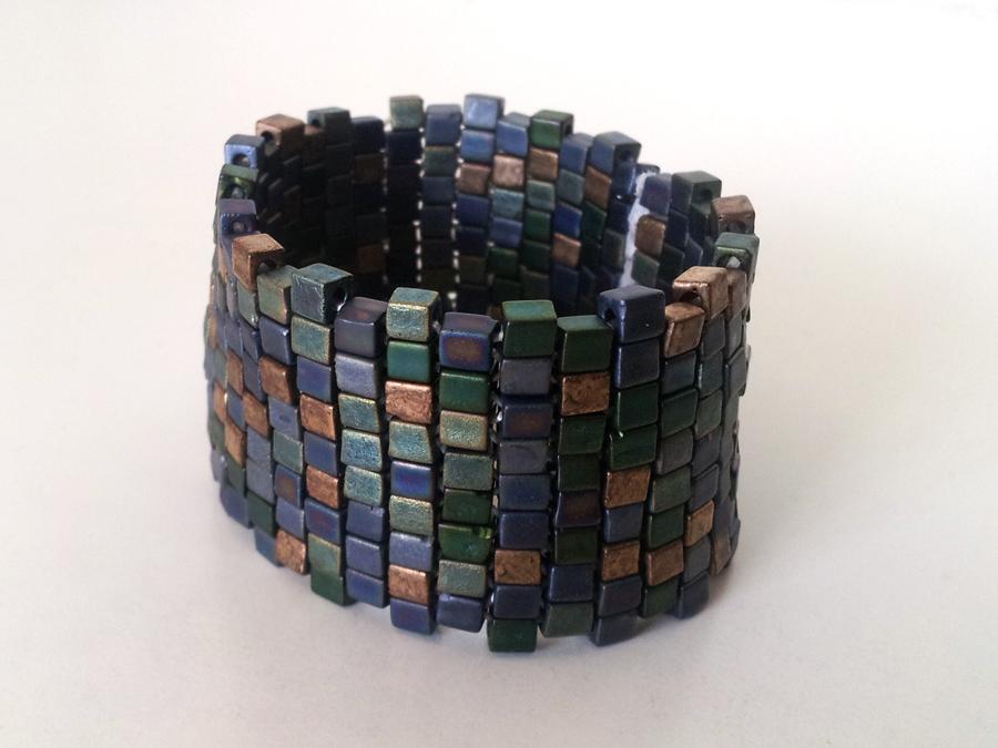 Miyuki beaded cuff bracelet
