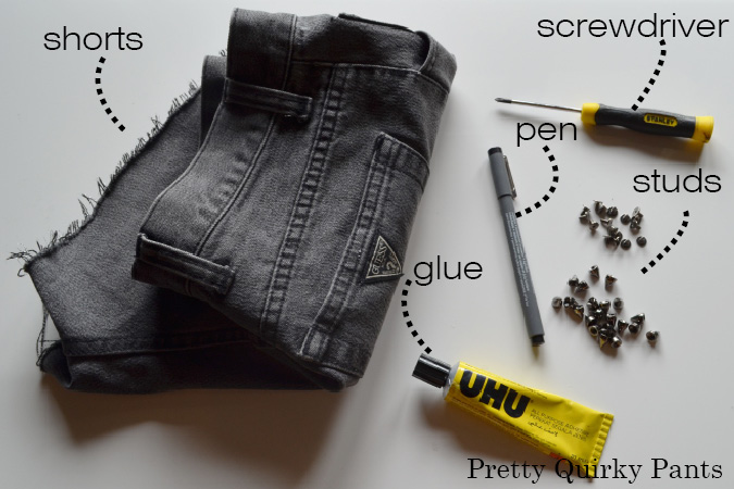 studded shorts tools