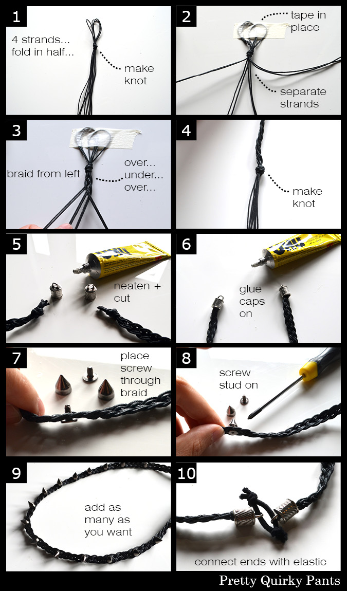 studded headband instructions