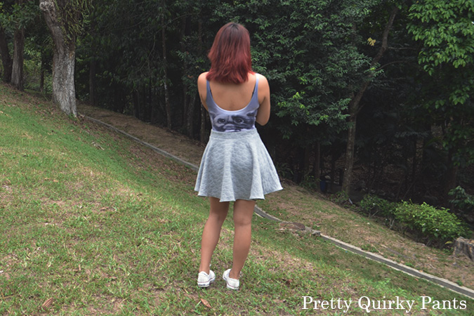 DIY quilted skater skirt 4