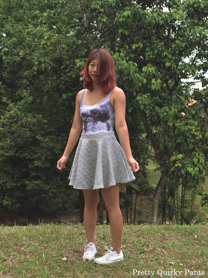 DIY quilted skater skirt 5