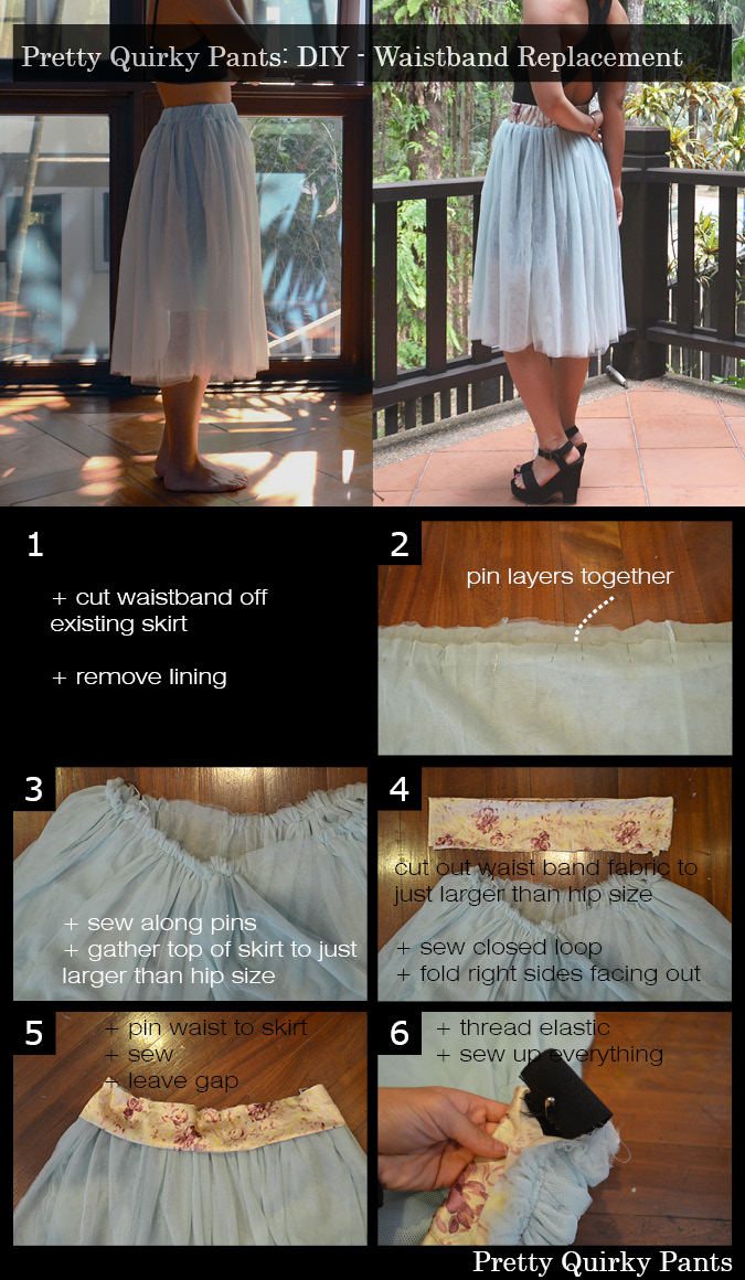 Instruction Layout - waist replacement tutu