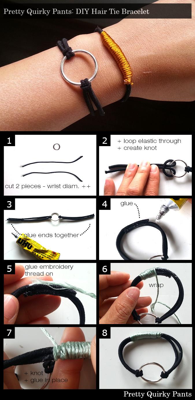 Hair Tie Bracelet Instructions