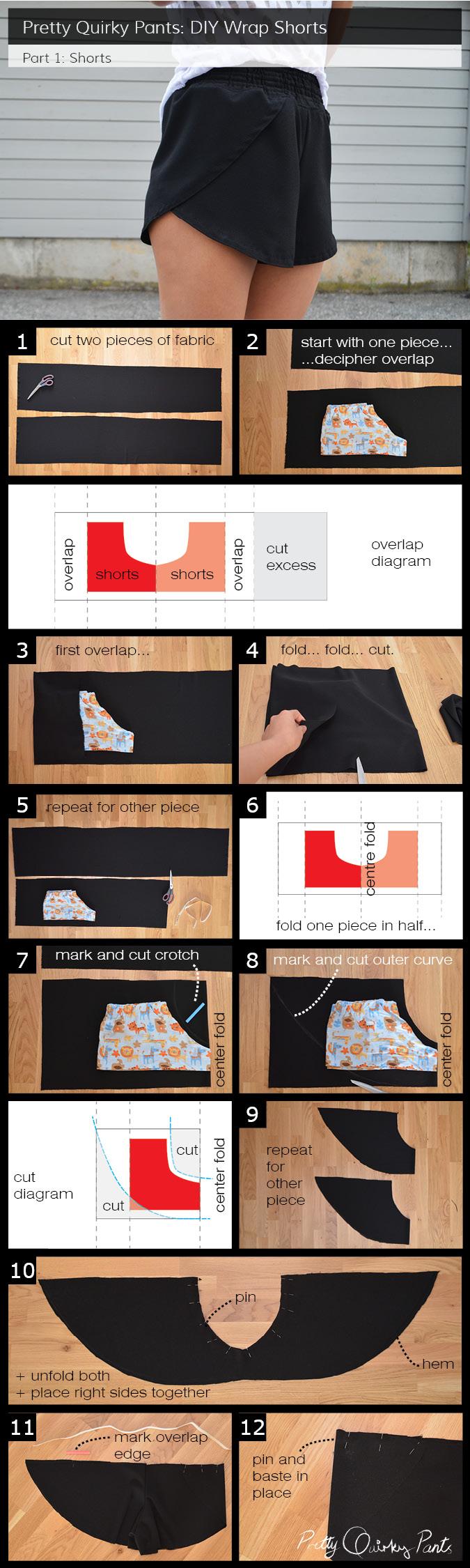 Instruction Layout - wrap shorts