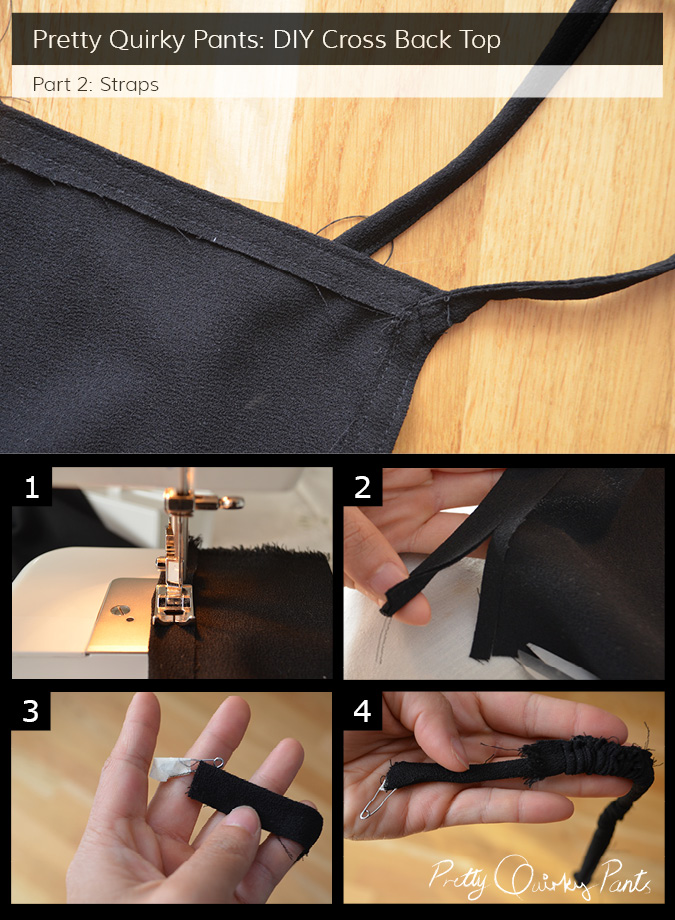 Instruction - cross back top straps
