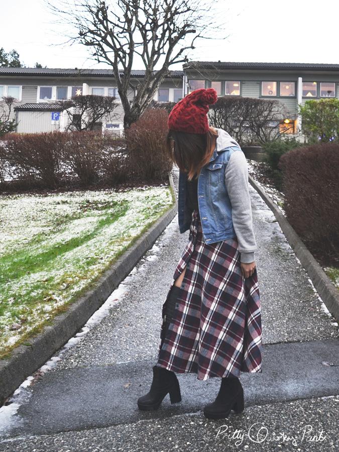 plaid maxi skirt 4