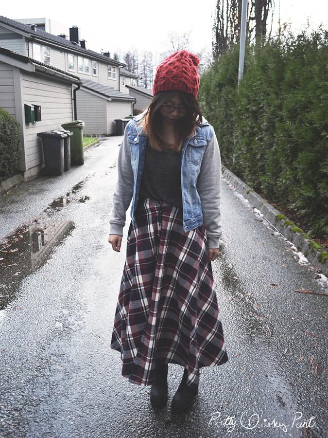 plaid maxi skirt 5