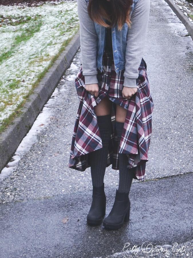 plaid maxi skirt 6