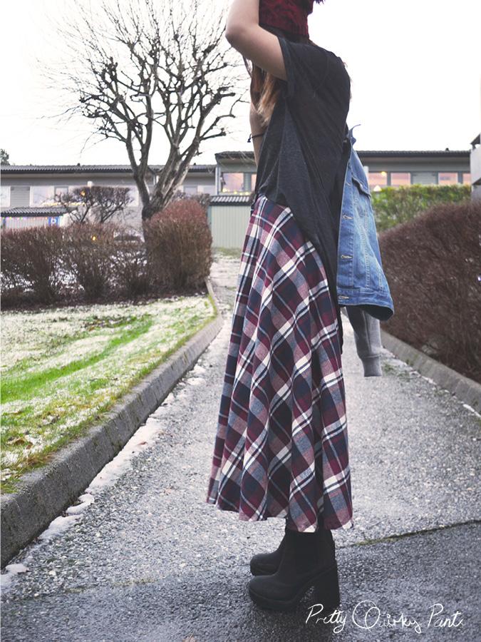plaid maxi skirt 8