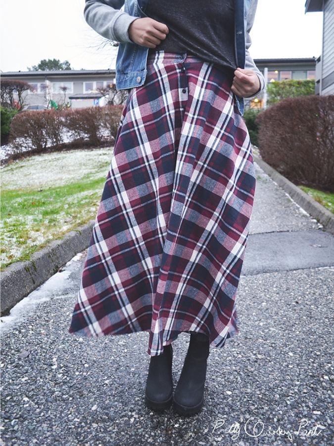 plaid maxi skirt 9