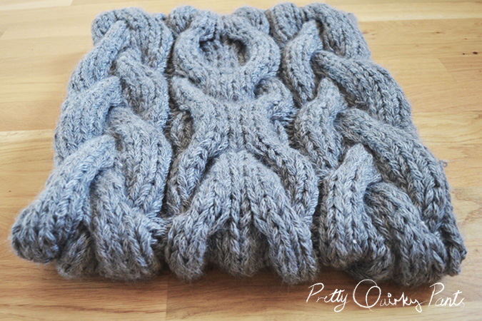 CABLE SCARF 2