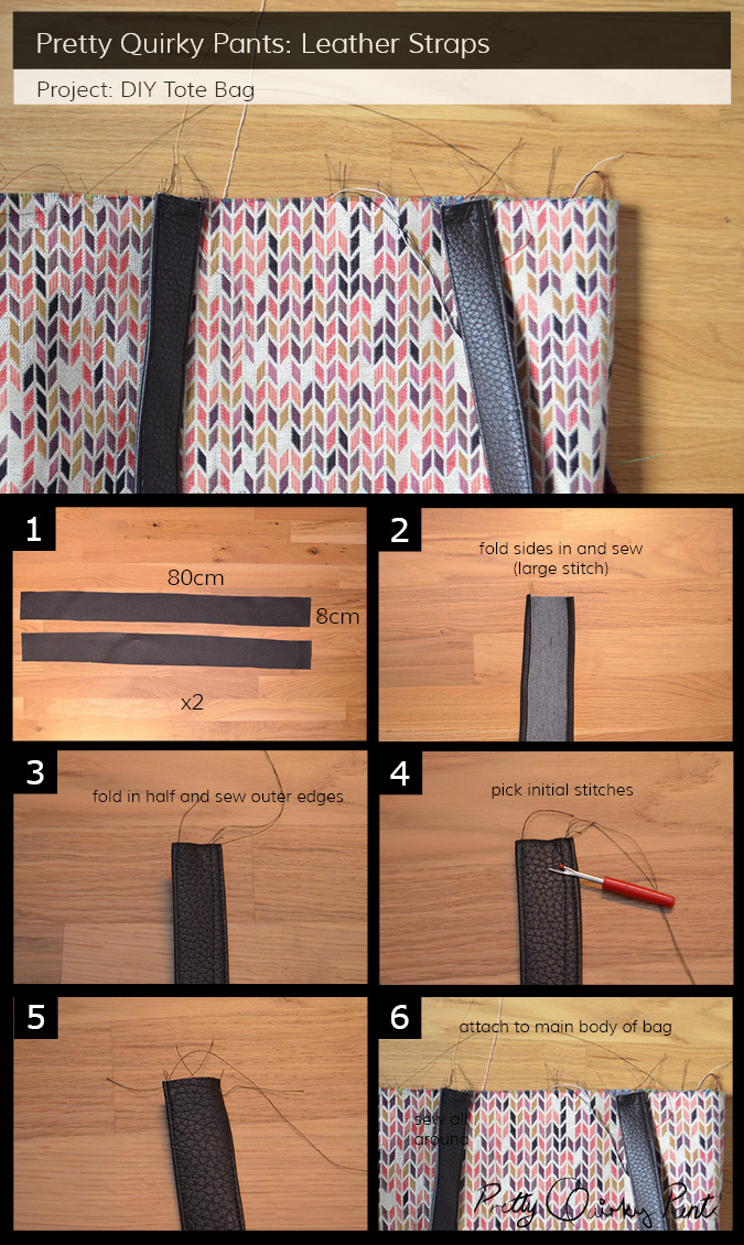 Instruction Layout - tote bag straps