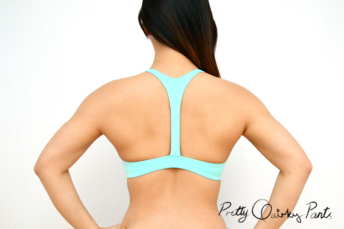 diy neoprene bralet back