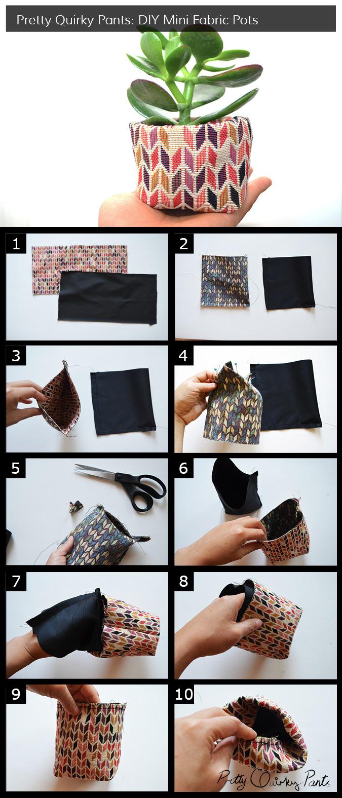 Instruction Layout - mini fabric pot 3