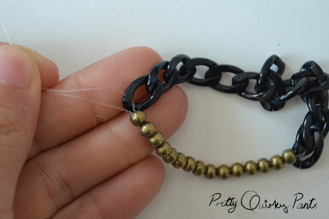 chain bead stretch bracelet3