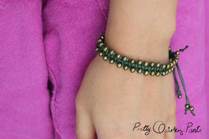 macrame beaded bracelet 2