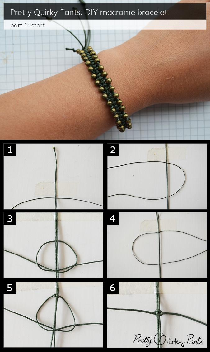 macrame bracelet part one