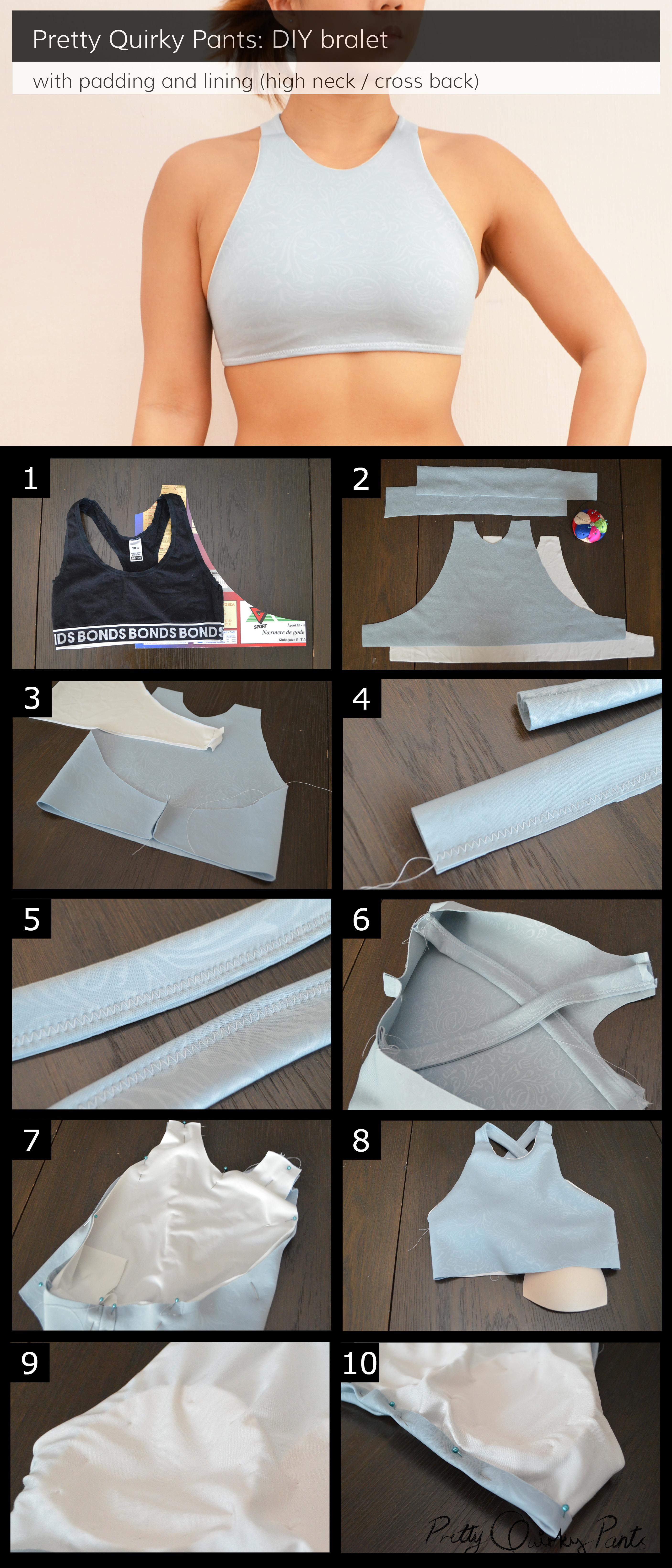 Instructions - hi top x back bralet
