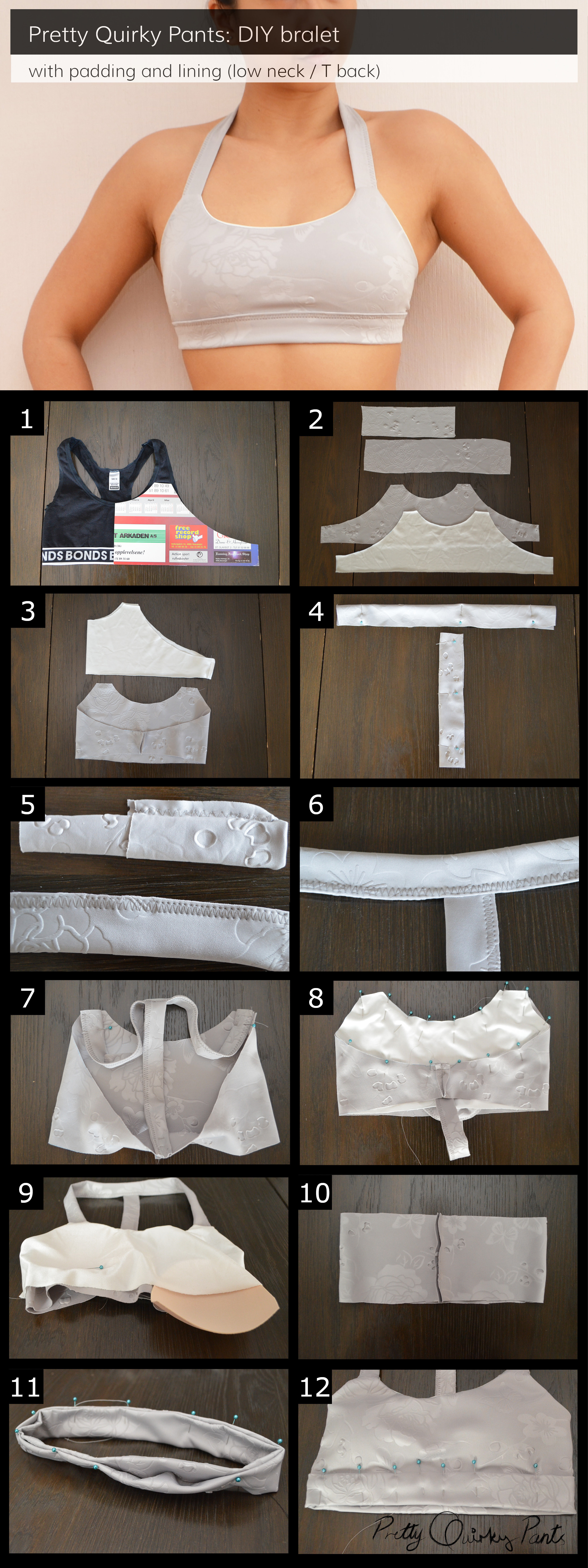 Instructions - lo top t back bralet